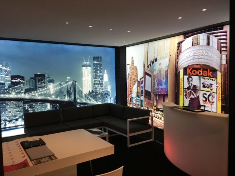 frameview vivid lumina spanplafond en spanwand decoratie