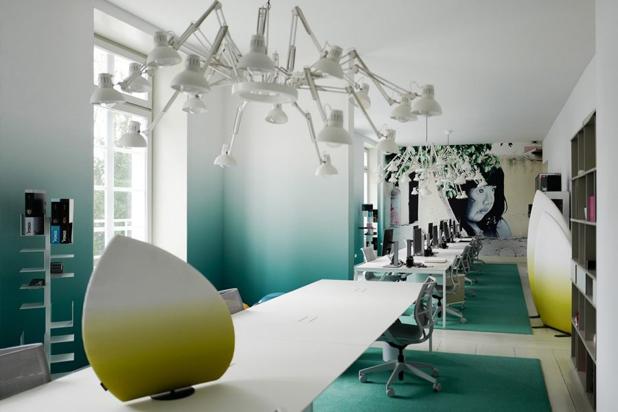 spanplafond en spanwand tension vivid villa kantoorruimte