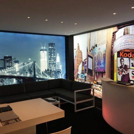 printwand frameview vivid lumina spanplafond en spanwand decoratie