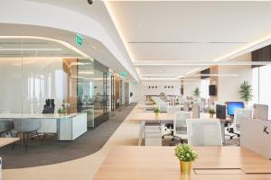 interieur design van een bank met een spanwand met ingebouwde verlichting spanplafond prijs