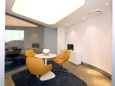 lichtplafond, spanplafond in klein kantoor