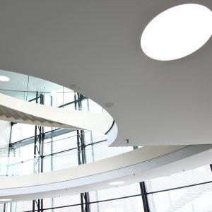spanplafond en spanwand lumina wit circel verlichting LED