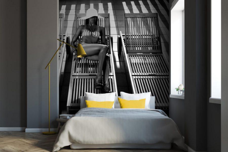 spanplafond en spanwand tension vivid slaapkamer bed and breakfast