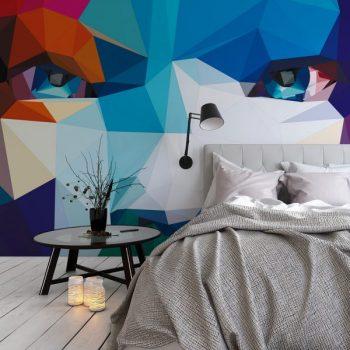 spanplafond en spanwand tension vivid slaapkamer in een jonge woning nieuwbouw