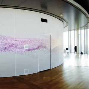 spanplafond rotonde met print