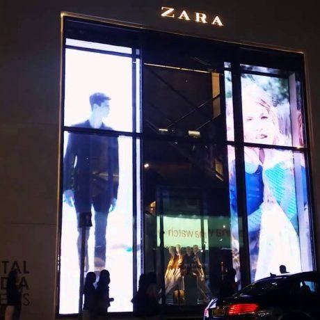 spanplafond spanwand frameview in de showroom van een gallerij van kledingwinkel spanplafond prijs