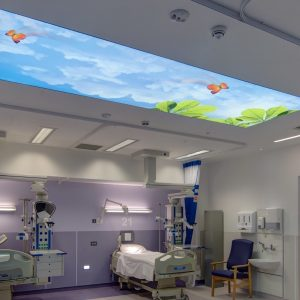 spanplafond spanwand lumina op de intensieve zorgen afdeling
