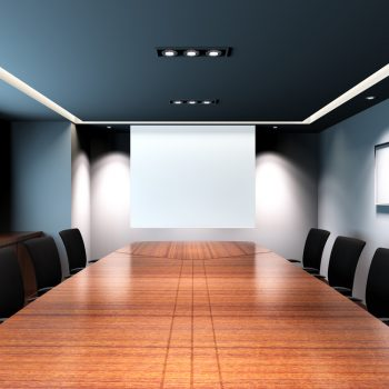 spanplafond spanwand projectie muur tension motion in een meeting room