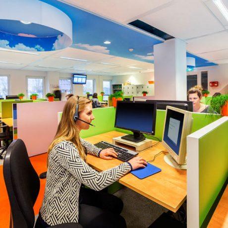 tension whisper akoestisch standaard spanplafond in een moderne callcenter spanplafond prijs